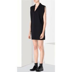MM6 Maison Margiela Collared Twill Jersey Dress